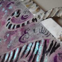 Cornice realizzata in acciaio inox 316 levigato con flessibile.  Ornamenti in stagno.  Stefano Carloni